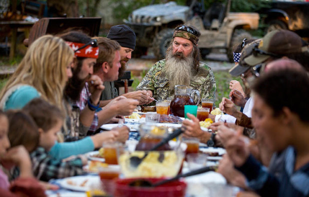 Duck Dynasty: Phil Robertson heads the family dinner