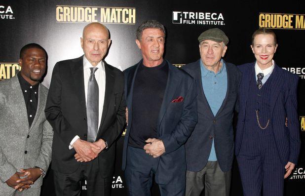 Kevin Hart, Alan Arkin, Sylvester Stallone, Robert De Niro, Kim Basinger 'Grudge Match' film premiere, New York, America - 16 Dec 2013