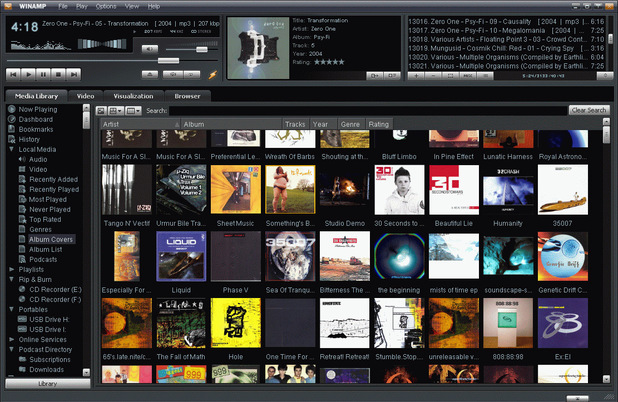 Winamp media player