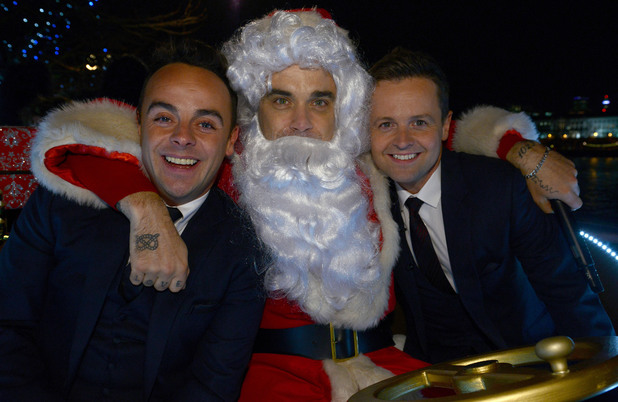 Robbie Williams plays Father Christmas to kick off Text Santa