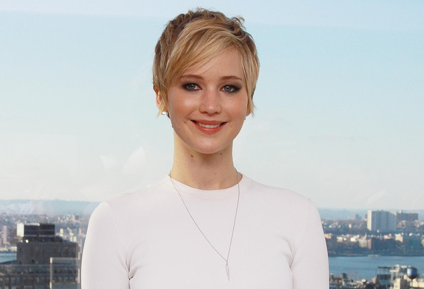 Jennifer Lawrence at the American Hustle film press conference, New York