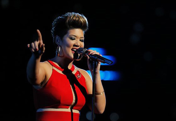 The Voice: Tessanne Chin performs for the final