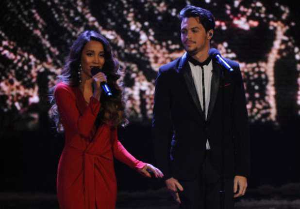 Alex & Sierra performing on the X Factor USA final results show