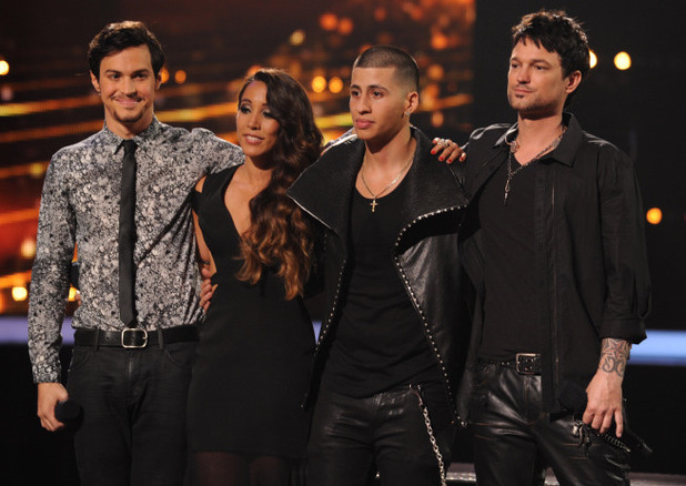 The X Factor USA finalists:  Alex & Sierra, Carlito Olivero and Jeff Gutt
