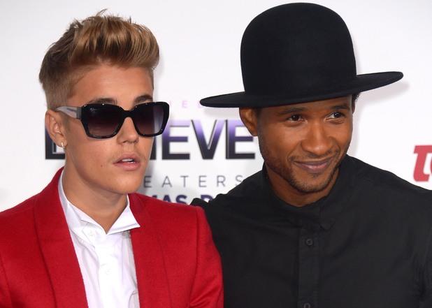 Justin Bieber's 'Believe' film premiere, Los Angeles, America - 18 Dec 2013 Justin Bieber, Usher 18 Dec 2013