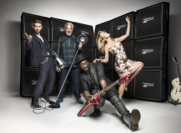 Ricky Wilson, Sir Tom Jones, will.i.am and Kylie Minogue