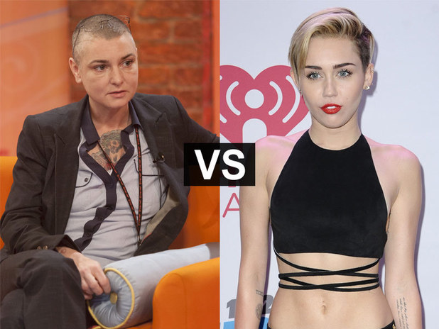 Showbiz Spats: Sinead O'Connor and Miley Cyrus