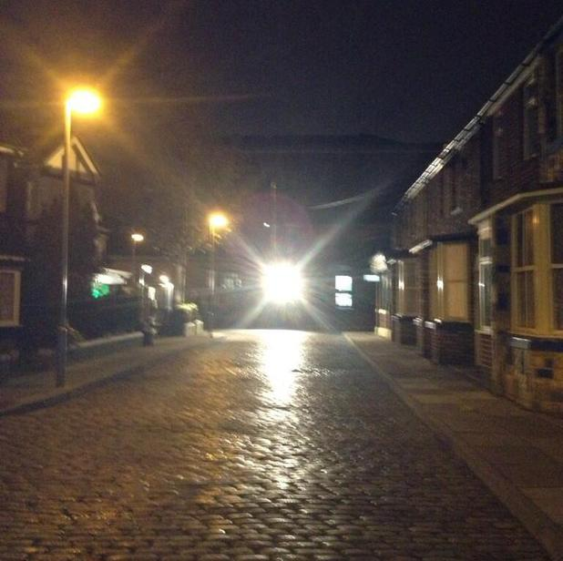 Coronation Street films final scenes at Quay Street set