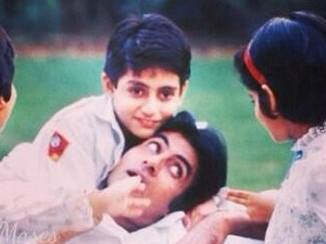 Abhishek Bachchan childhood picture