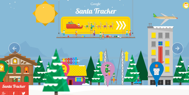 Google Map's Santa tracker