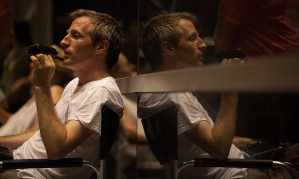 Spike Jonze on the set of 'Her'