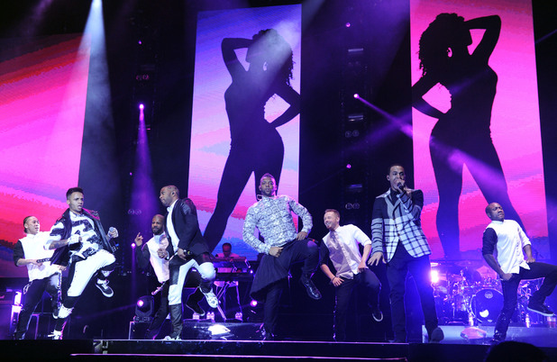JLS during their farewell concert at The O2 Arena, London