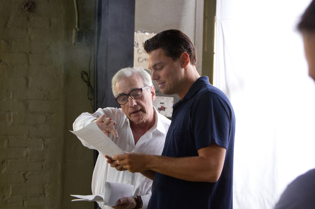 Leonardo DiCaprio and Martin Scorsese filming 'The Wolf of Wall Street'