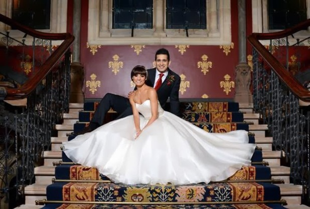 Flavia Cacace and Jimi Mistry on their wedding day