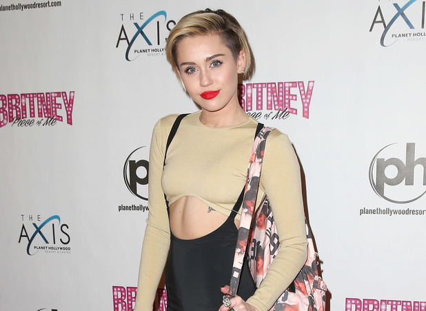 "Miley Cyrus arrives for ""Britney : Piece of Me"""