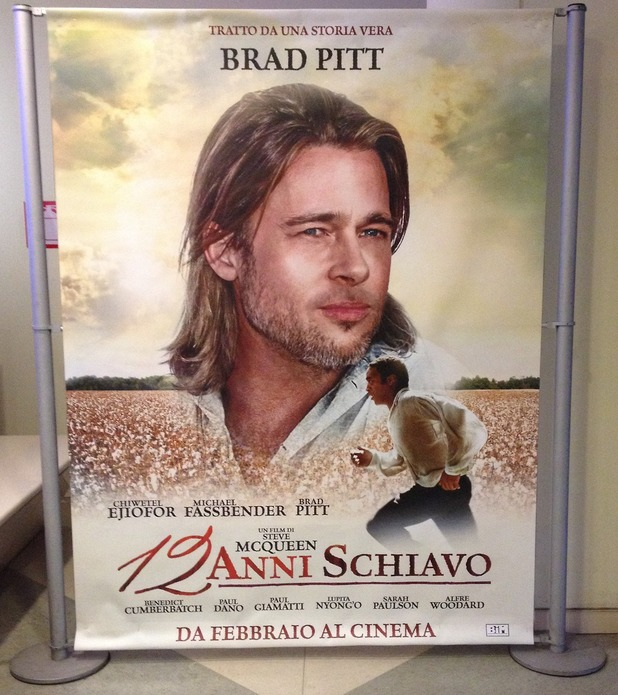 Italy's 12 Years a Slave posters criticised for focus on white stars