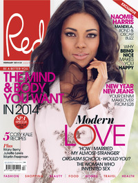 Naomie Harris on the February '14 cover of Red magazine