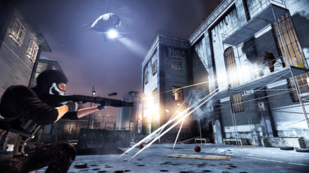 Screenshot from team-based shooter Rekoil