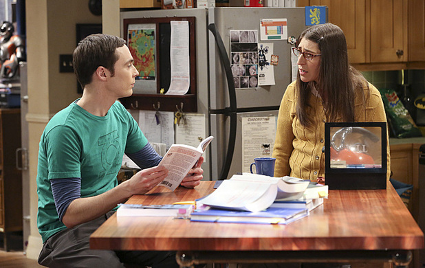 Jim Parsons as Sheldon & Mayim Bialik as Amy in The Big Bang Theory: 'The Hesitation Ramification'