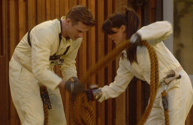 Lee and Casey during the task.