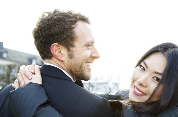 TJ Thyne and his fiancee Leah Park