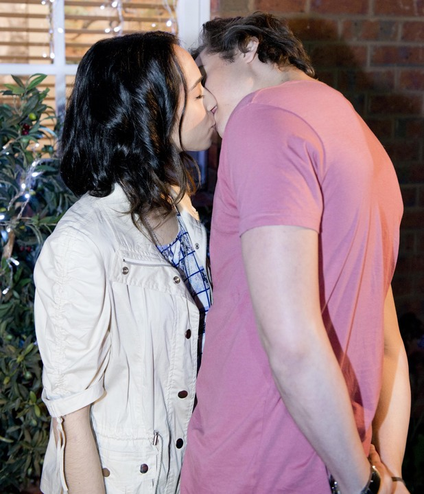 Mason and Imogen kiss.
