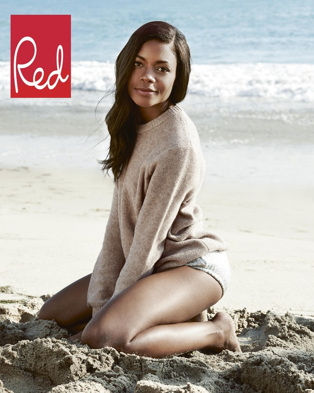 Naomie Harris in the February '14 issue of Red magazine