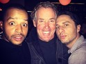 The actor posed with Donald Faison and John C. McGinley for the picture.