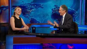 Scarlett Johansson talks Her on The Daily Show