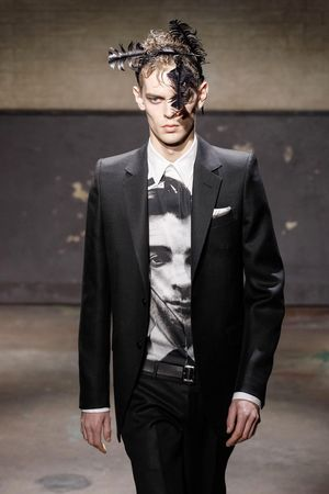 Alexander McQueen fashion show, London Collections: Men, Autumn Winter 2014, London, Britain - 07 Jan 2014