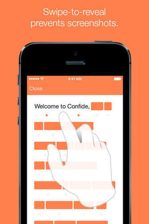 Screenshot of Confide running on iOS