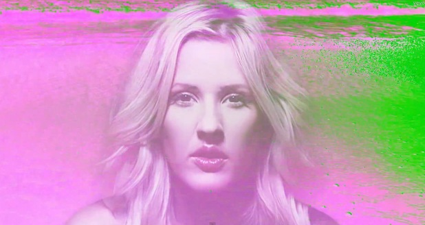 Ellie Goulding 'Goodness Gracious' video still.