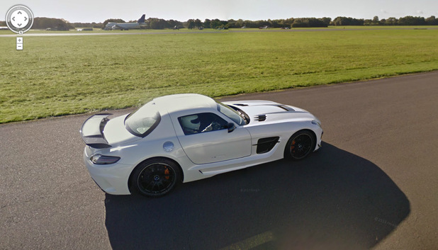 Top Gear racetrack on Google Maps