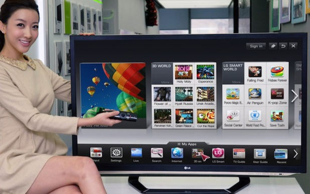 LG's webOS platform running on its Smart TV hardware