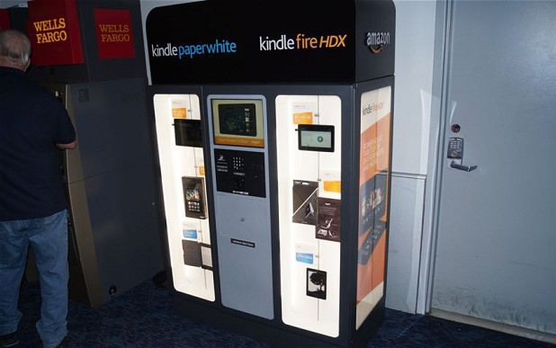 Amazon Kindle Kiosk vending machine at a Las Vegas airport