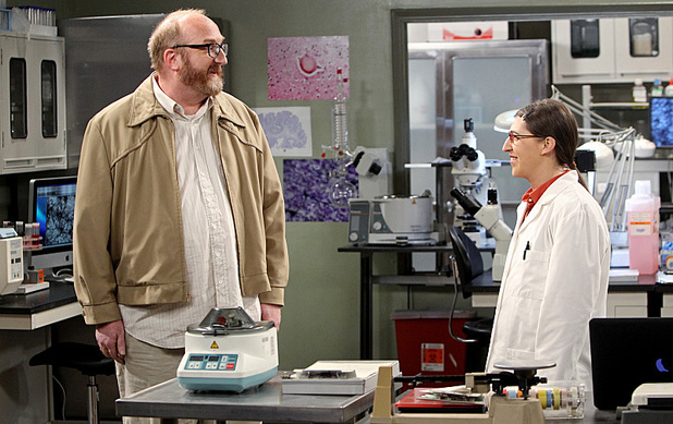 Brian Posehn as Bert & Mayim Bialik as Amy in The Big Bang Theory: 'The Occupation Recalibration'