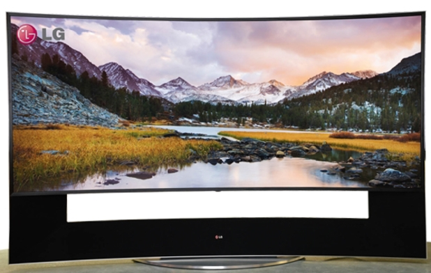 LG's UC9 105-inch curved television