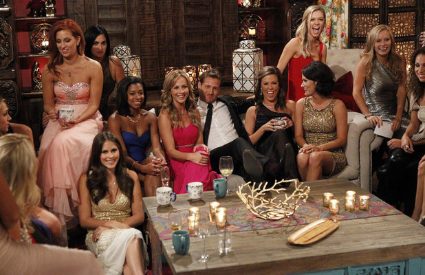 The Bachelor Season 18 premiere: Juan Pablo with some of the bachelorettes