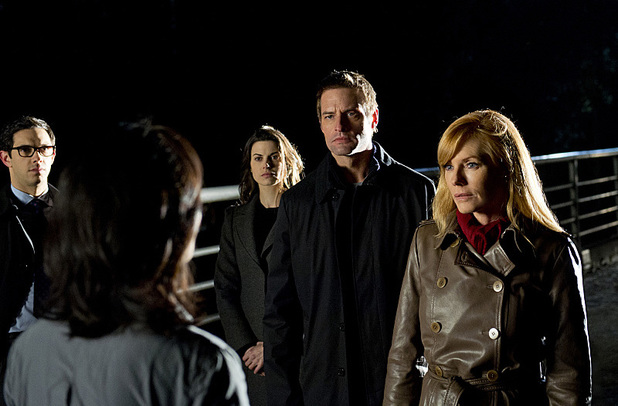 Meghan Ory, Josh Holloway and Marg Helgenberger in Intelligence
