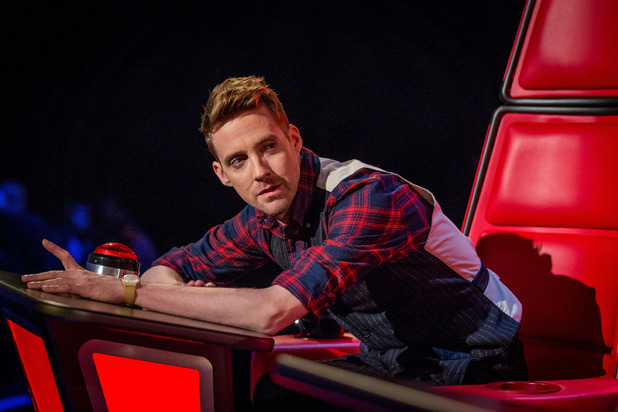 Ricky Wilson during The Voice UK's series three premiere