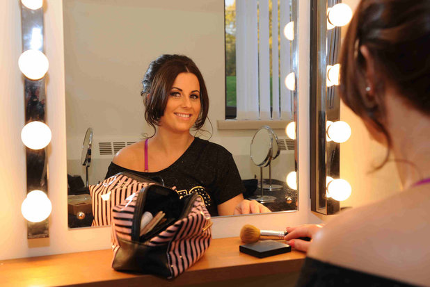 Kate getting ready for the big night on Take Me Out