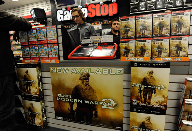 Inside a GameStop store