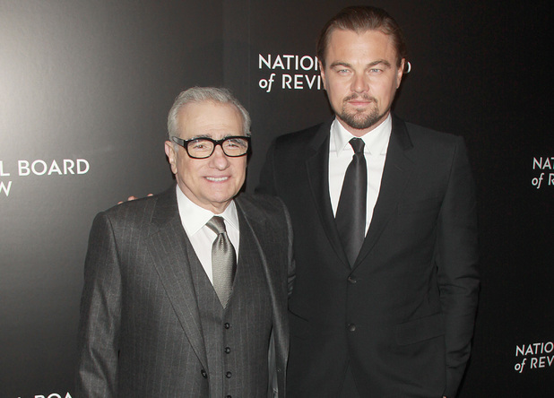 2014 National Board Of Review Awards Gala - Red Carpet Arrivals People: Leonardo DiCaprio and Martin Scorsese