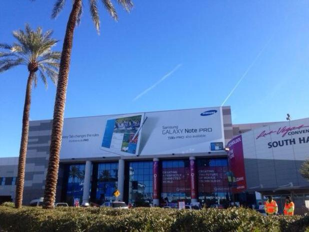 Samsung Galaxy Note Pro banner as CES