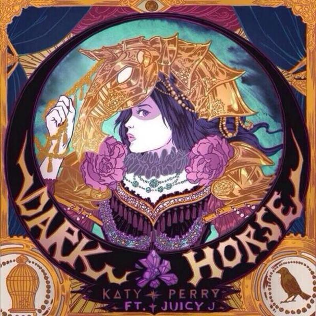 Katy Perry 'Dark Horse' single artwork.