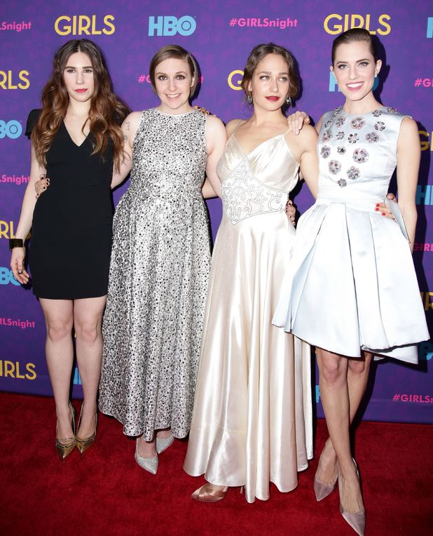 Zosia Mamet, Lena Dunham, Jemima Kirke, Allison Williams 6 Jan 2014 'Girls' 3rd Season TV Series Premiere, New York, America - 06 Jan 2014
