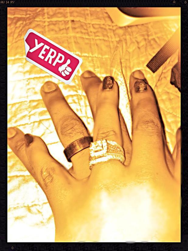Bobbi Kristina Brown and Nick Gordon's wedding rings