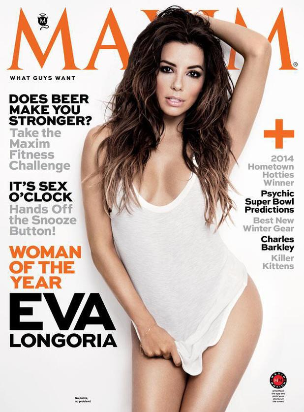 Eva Longoria featured on the cover of Maxim as Woman of the Year