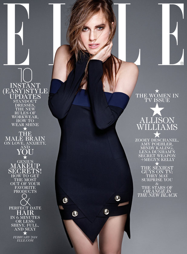 Allison Williams on the cover of Elle magazine