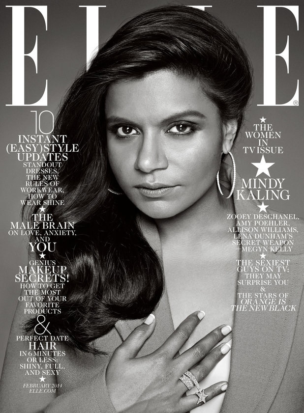 Mindy Kaling on the cover of Elle magazine